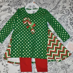 Bonnie Jean Holiday Outfit Girls SZ 24 M
